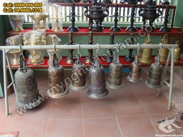 Chuông đồng, Chuông dùng trong đền chùa, nhà thờ, điện thờ0