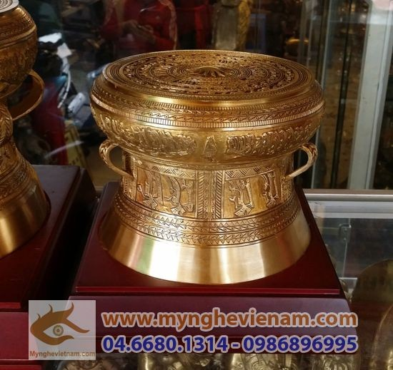 Trống đồng đk 15cm, quà tặng mỹ nghệ cao cấp mang văn hóa Việt Nam