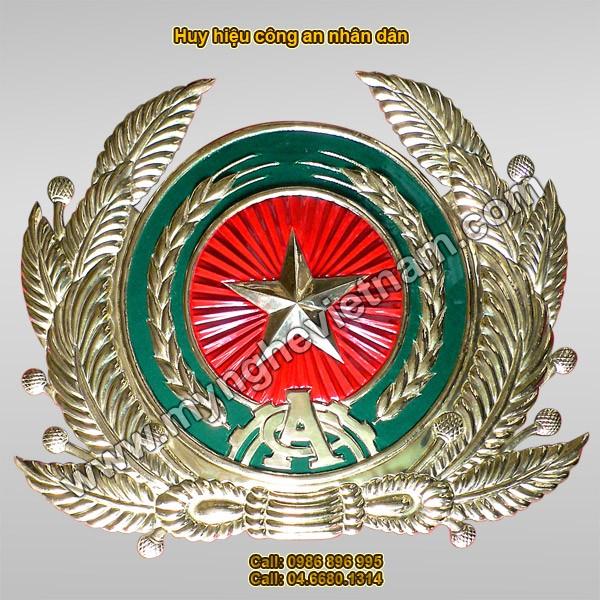 Sản xuất công an hiệu – quốc huy – huy hiệu bằng đồng0