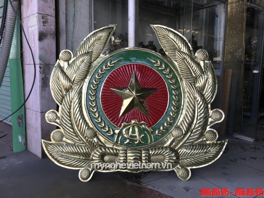 logo công an bằng đồng làm đẹp sắc nét