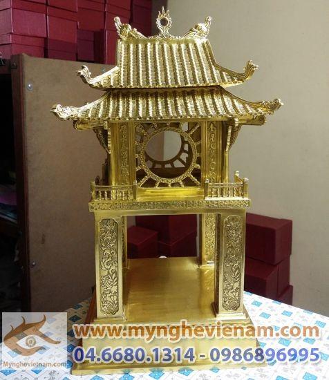 Văn miếu quốc tử giám Hà Nội, quà tặng văn hóa Việt, Tượng đồng Khuê Văn Các, cao 40cm, quà tặng đối tác, quà tặng lưu niệm