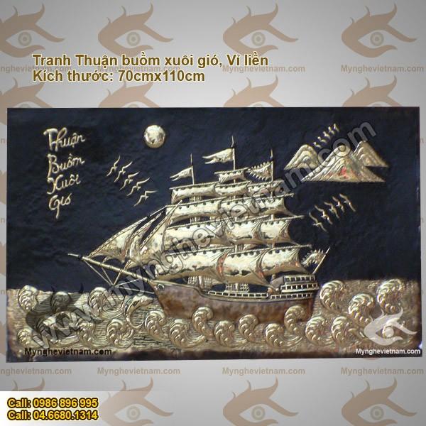 Tranh Thuận buồm xuôi gió - Vỉ liền