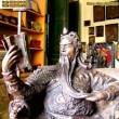 Tượng Quan Công ngồi đọc sách - đúc đồng giả cổ