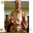Tượng Khổng Minh, Khảm Tam khí, Cao 72cm, Tượng đồng, Tam khí