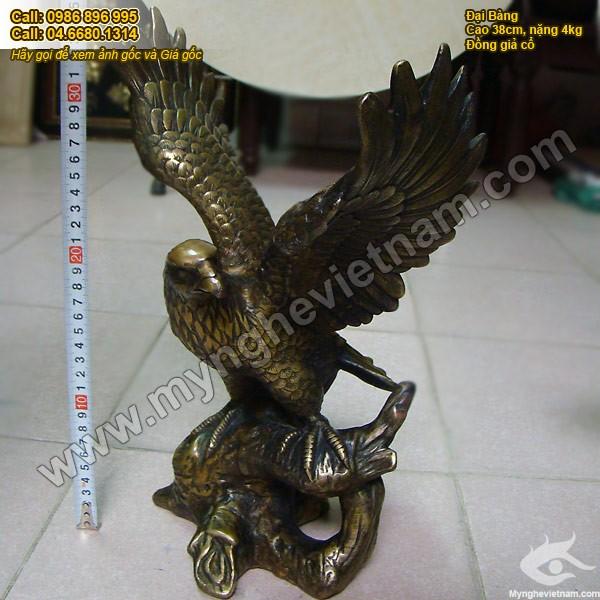 Tượng đại bàng bằng đồng giả cổ cao 38cm 3