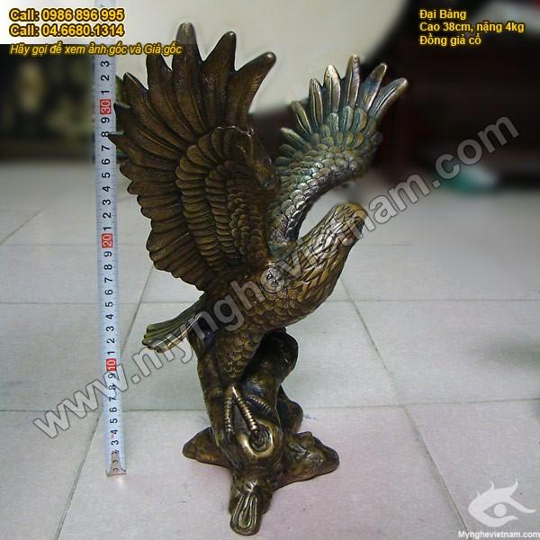 Tượng đại bàng bằng đồng giả cổ cao 38cm 2