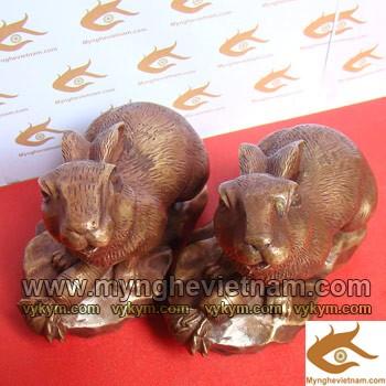 Tượng Thỏ bằng đồng, Tượng con thỏ phong thủy0