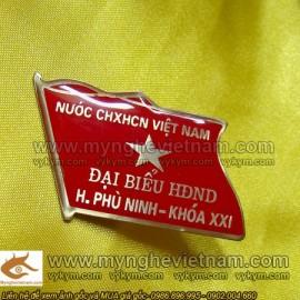 Chế tác Huy hiệu cài ngực, Huy hiệu HĐND, UBND, Huy Hiệu Đảng, Thẻ Cài Ngực, Thẻ Tên, Thẻ Nhân Viên, bằng đồng