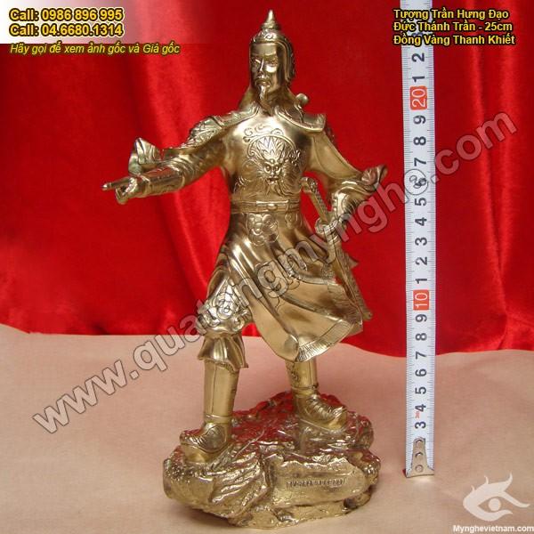 Tượng Trần Hưng Đạo, tượng Đức thánh Trần bằng đồng 25cm0
