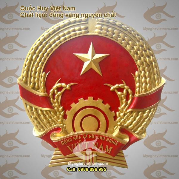 Chế tác quốc huy, huy hiệu công an bằng đồng đúc0