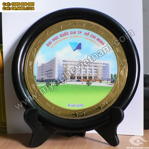 Đĩa đồng quà tặng mỹ nghệ, quà tặng cao cấp, quà tặng văn hóa Việt