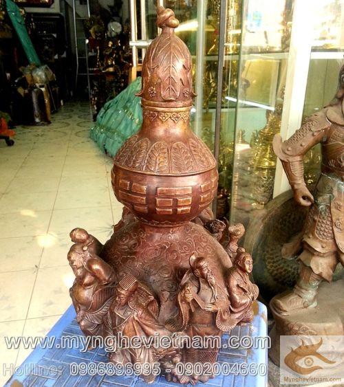 Hồ lô bát tiên, Bát Tiên Quá Hải - 8 vị tiên, cao 20cm