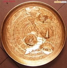 Đĩa đồng trống đồng: Bản đồ Việt Nam, 3 miền Việt Nam, đĩa quà tặng, quà tặng lưu niệm