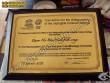 Biển chứng nhận, giấy khen, bằng khen, bảng ghi công bằng đồng
