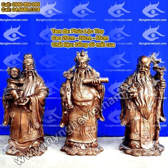 Tượng đồng 3 ông Phúc - Lộc - Thọ