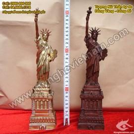 Tượng đồng Nữ thần tự do, chất liệu đồng đỏ, tượng giả cổ