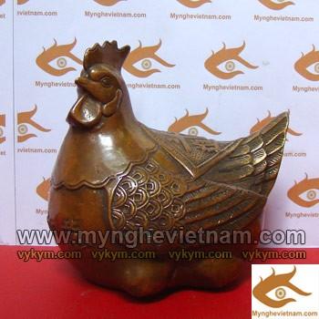 Gà đồng, Gà mái, gà mẹ, tượng giả cổ, vật phẩm phong thủy, tượng phong thủy