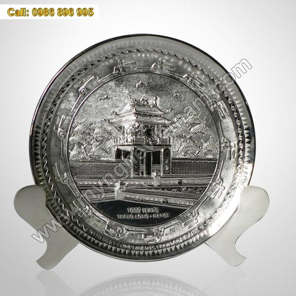 Đĩa đồng mạ bạc - Quà tặng đối tác cao cấp