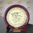 Đĩa đồng Ăn mòn mỹ nghệ: Tranh dân gian - Quà tặng đối tác cao cấp