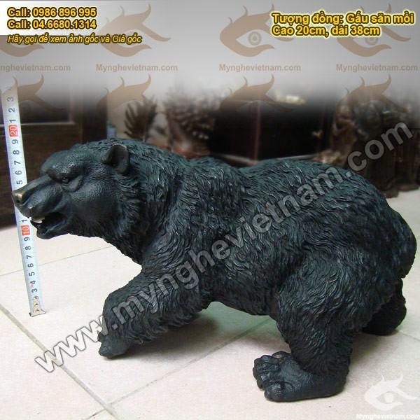 Tượng gấu đồng, gấu đen, gấu xám - Tượng gấu đẹp, trang trí nhà cửa, văn phòng làm việc