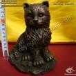Tượng Mèo - Tượng Mèo 12 con giáp - Mèo Nằm trên tiền - Mèo Trang trí - Phong Thuỷ Gia