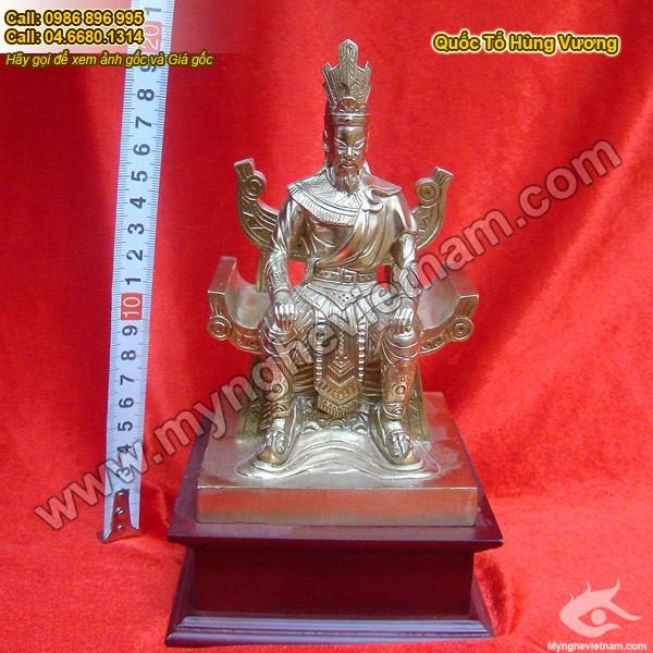 Tượng Vua Hùng – tượng đồng hùng vương 20cm0