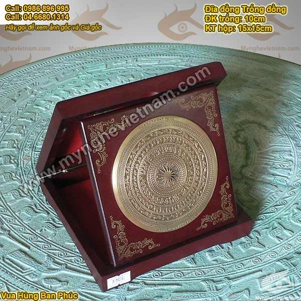 Đĩa đồng Mặt trống đồng Việt nam, đĩa đúc đồng, đĩa đúc, Đĩa đồng mỹ nghệ, đĩa lưu niệm, đĩa quà tặng