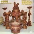 Đỉnh Đồng Song Long đúc nổi, đồ thờ cúng, đồ thờ bằng đồng, cao 35cm, 50cm, 60cm