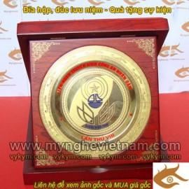 Đĩa hộp đúc, chế tác, đúc theo logo, tên công ty, quà tặng mỹ nghệ, quà tặng lưu niệm, sự kiện, mỹ nghệ đồng