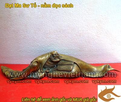Đạt Ma Tổ Sư nằm đọc sách, Tượng Đạt Ma Tổ Sư, tượng đồng, tượng nghệ thuật, tượng giả cổ