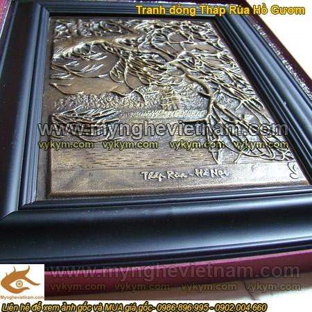 Tranh Tháp Rùa, Hồ Gươm, Hồ Hoàn Kiếm, tranh đồng đúc, tranh đồng quà tặng