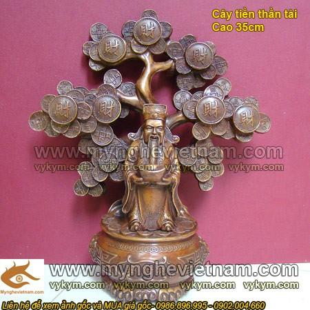 Tượng Thần Tài, đứng cây lá tiền, Tượng Thờ cúng, Cách thờ cúng thần tài