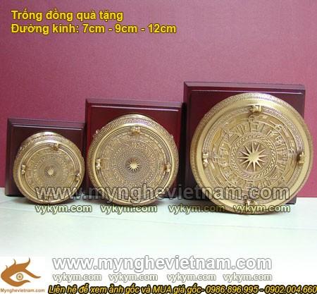 Trống đồng 9cm - Trống Đồng Việt Nam - Quà tặng mỹ nghệ cao cấp