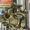Tượng rồng ôm tiền nhả ngọc cao 42cm bằng đồng