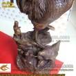 Gà đồng gia đình cao 63cm - gà phong thủy, vật phẩm phong thủy, chống lại thói trăng hoa