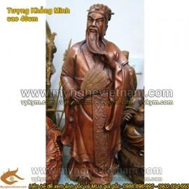Tượng Khổng Minh cao 40cm, Gia Cát Lượng, Zhu Ge Liang