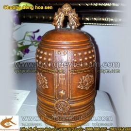 Chuông đồng, cao 15cm, chuông cỡ nhỏ - Chuông dùng trong đền chùa, nhà thờ, điện thờ