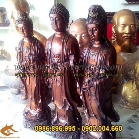 Tượng Tam thánh, Tam thế Phật, tượng phật bằng đồng
