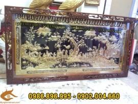 Tranh đồng Vinh quy bái tổ, 95x170cm, Tranh đồng mỹ nghệ cao cấp
