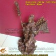 Tượng Quan Công cưỡi rồng cao 25cm, lưng đeo cờ