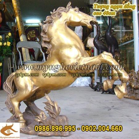 Ngựa phi thiên cao 40cm, ngựa phong thủy, mã đáo thành công, đơn mã, tượng ngựa đẹp