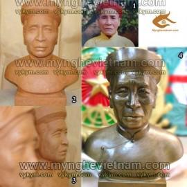 Điêu khắc tượng chân dung, tượng bán thân, toàn thân, tượng thờ cúng ông bà