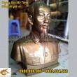 Tượng Chân Dung, Tượng Bán Thân Bác Hồ bằng đồng, cao 70cm, tượng trang trí phòng họp, phòng thờ