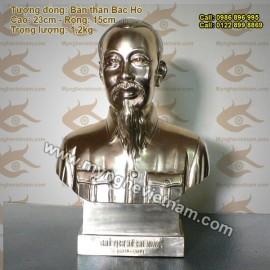 Tượng Chân Dung Bác cao 25cm, tượng đồng Bác Hồ, bày bàn làm việc, kệ sách, tặng quà lưu niệm