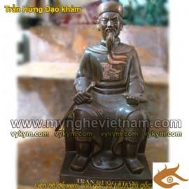 Tượng Đức Thánh Trần, ngồi cao 50cm, Tượng Hưng Đạo Vương, Tượng Đồng phong thủy, quà tặng sếp