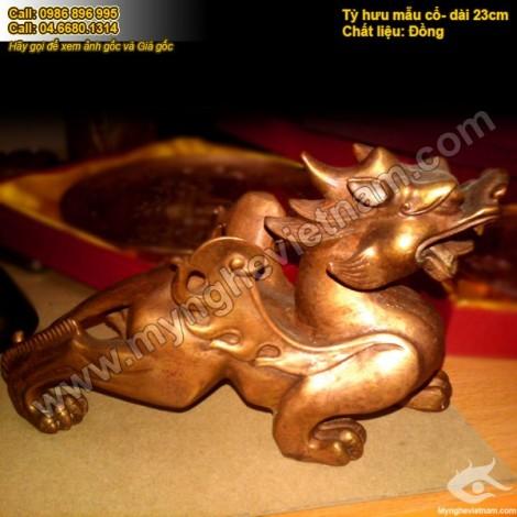 Tỳ Hưu Thiên Lộc đồng, Tỳ hưu phong thủy bằng đồng nguyên chất, vật phẩm phong thủy, linh vật phong thủy