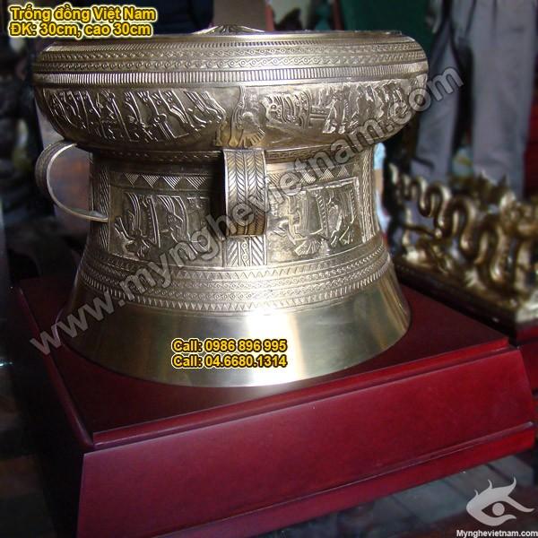 Trống đồng ĐK 30cm - Trống Đồng Việt Nam - Quà tặng mỹ nghệ cao cấp