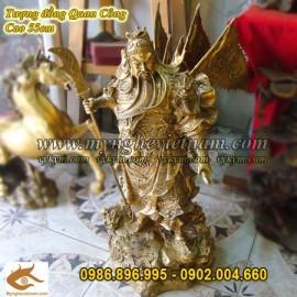Tượng đồng Quan Công cưỡi rồng, Tượng Quan Vũ, Quan Vân Trường cao 60cm