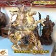 Tượng đồng Quan Công cưỡi ngựa, cao 37cm, Tượng Quan Vũ, Quan Vân Trường, tượng phong thủy