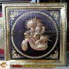 Chữ Nhẫn Rồng, khung đồng liền, 70x70cm, bách nhẫn toàn gia Phúc